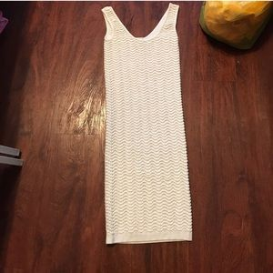 White Bebe bodycon dress